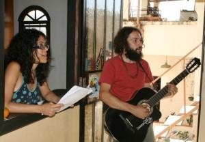Aline Cântia e Chicó do Céu em gravação de CD Memórias de Pompéu