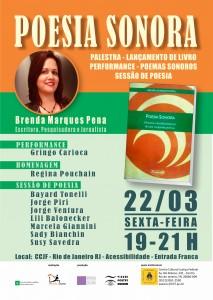 E-Flyer POESIA SONORA no CCJF (Rio de Janeiro)